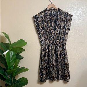 bar lll   black geometric print dress